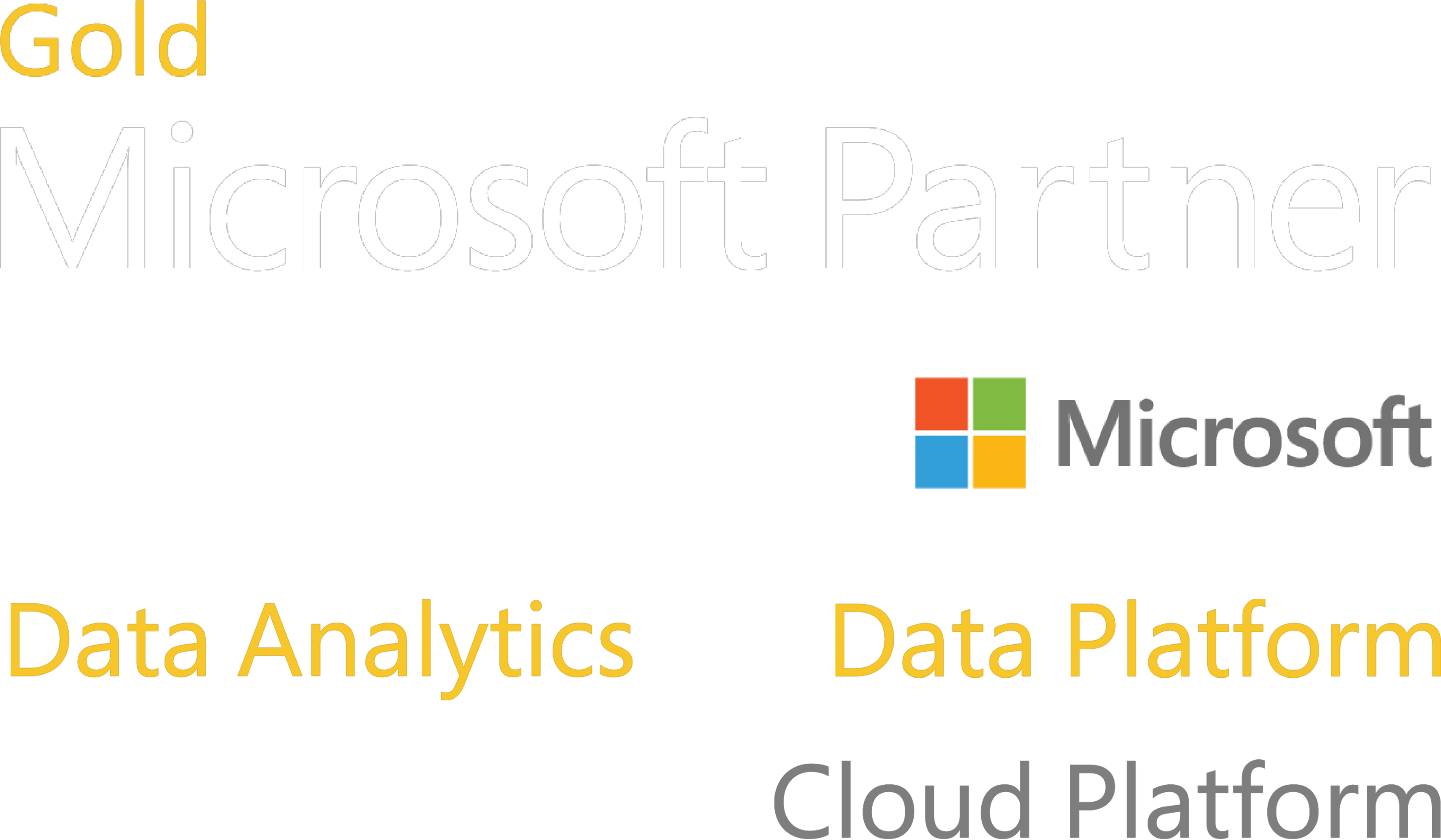 Microsoft Gold Partner - Data Analytics and Data Plataform and Silver Cloud Platform